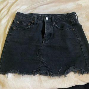 AMERICAN EAGLE black high waisted denim skirt